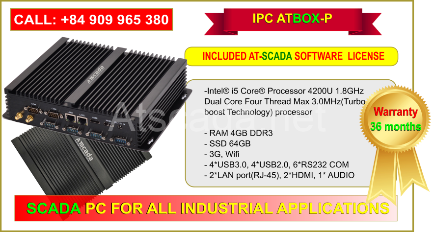 ATBOX-P Intel Core i5 - Full ATSCADA Software License