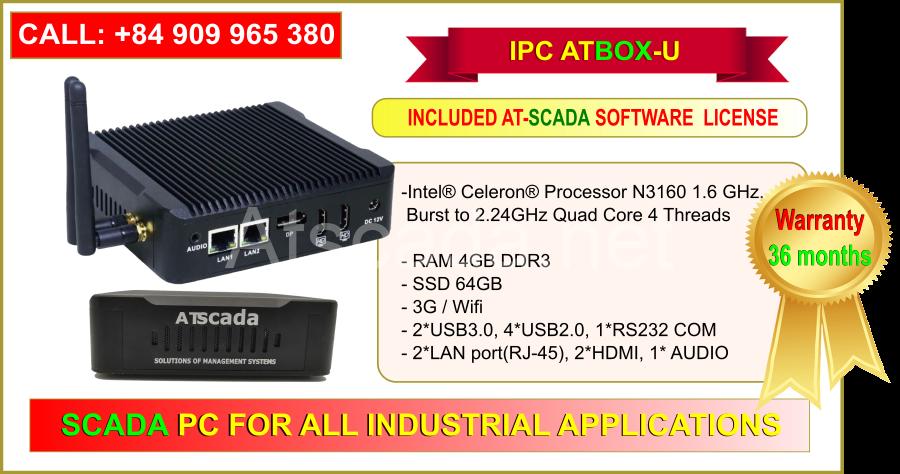 ATBOX-U SSD 64G Hỗ trợ kết nối Wifi, 3G - Full ATSCADA Software License
