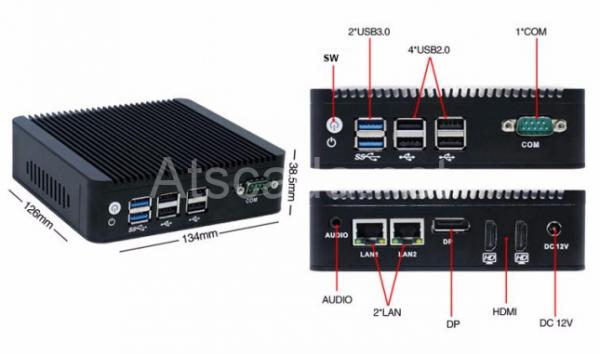MÁY TÍNH CÔNG NGHIỆP MINI ATBOX-U Hỗ trợ kết nối WIFI/3G