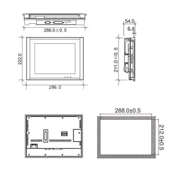 MÀN HÌNH HMI WECON PI8104 – MÀN HÌNH HMI 10.4 INCH