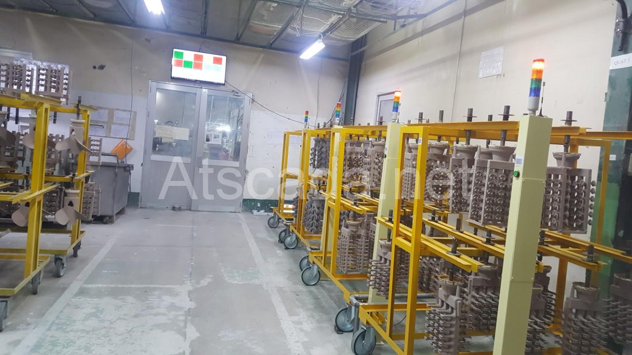 lắp đặt hệ thống giám sát sản xuất thời gian khô khuôn máy may