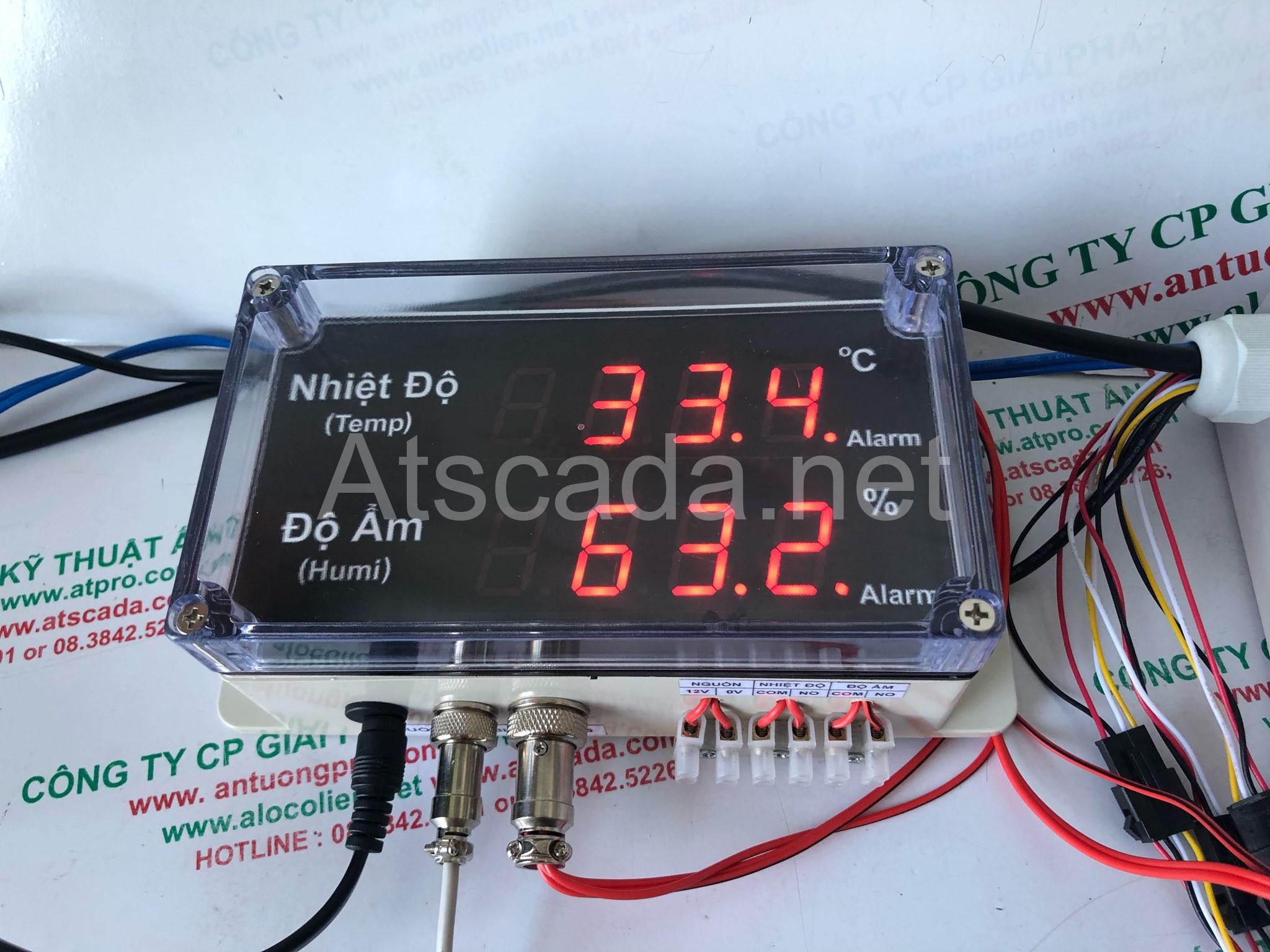 Bảng theo dõi nhiệt độ độ ẩm phòng máy chủ