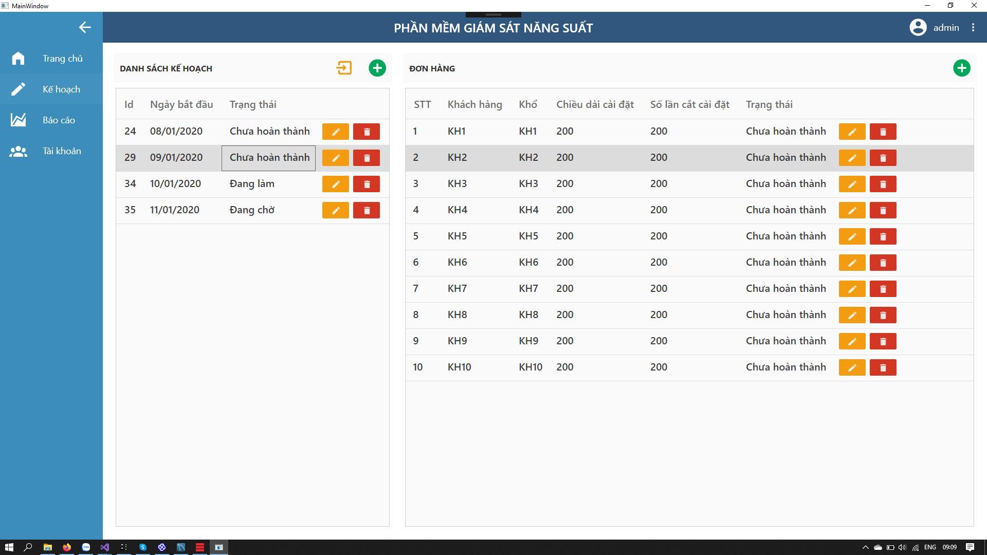 Phần mềm giám sát năng suất - Giao diện cài đặt/Setting