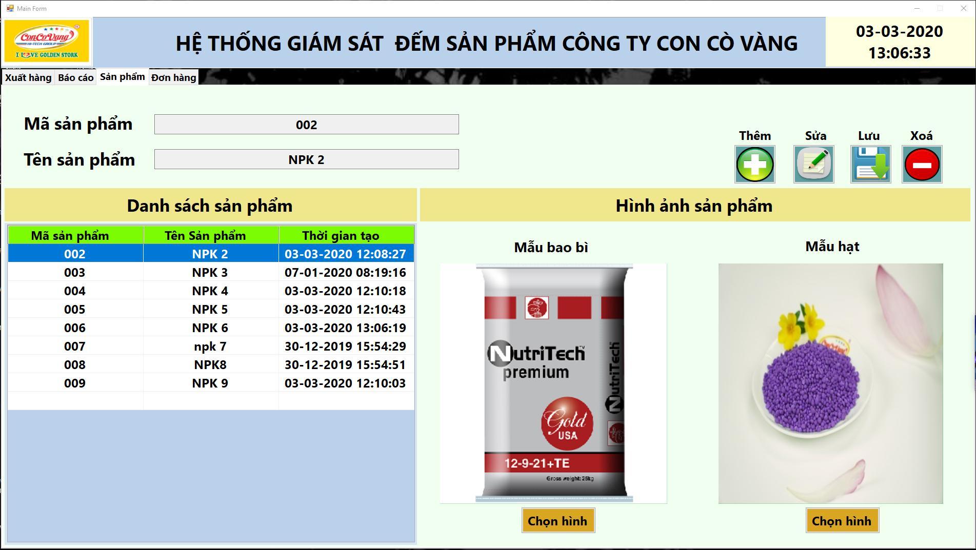 phần mềm giám sát sản xuất giao diện sản phẩm